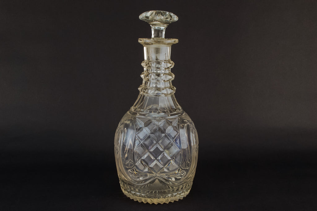 Port cut glass decanter