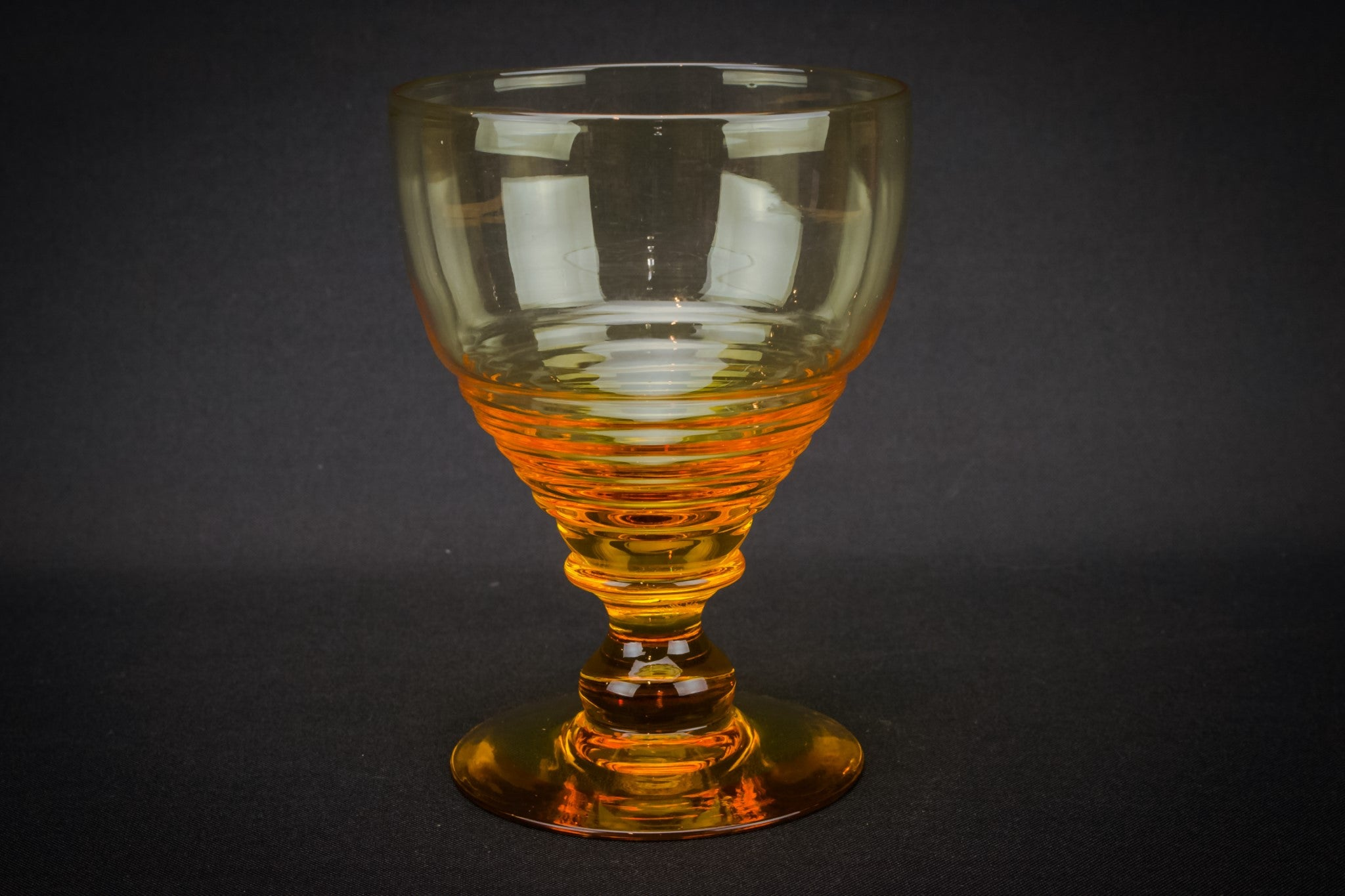 6 Stuart amber glasses