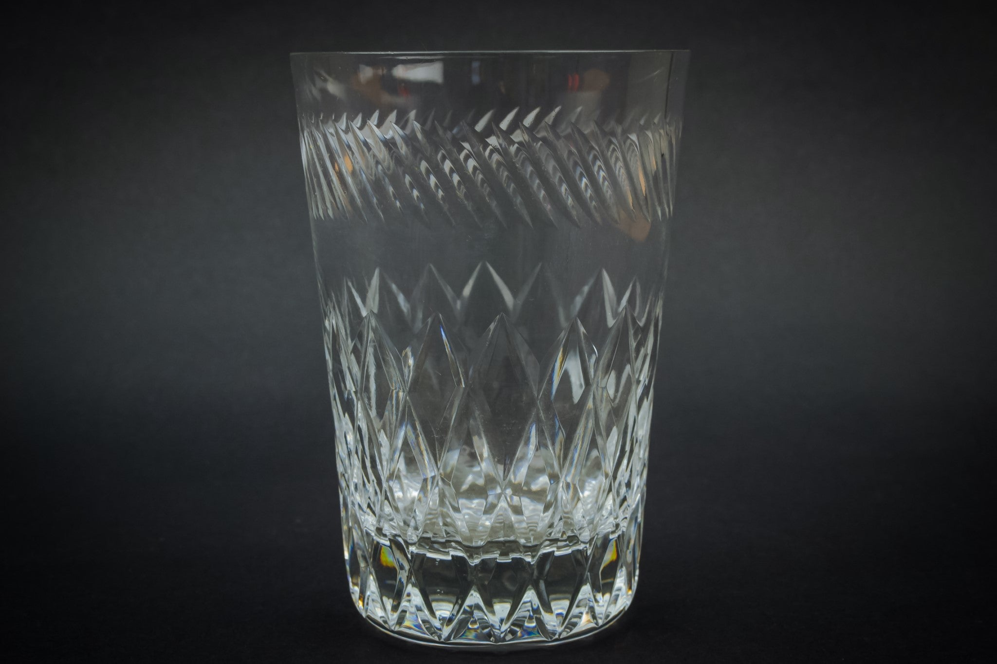 2 whisky tumbler glasses