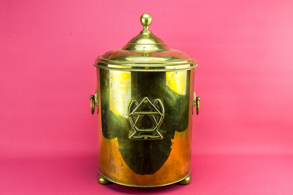 Masonic brass bucket