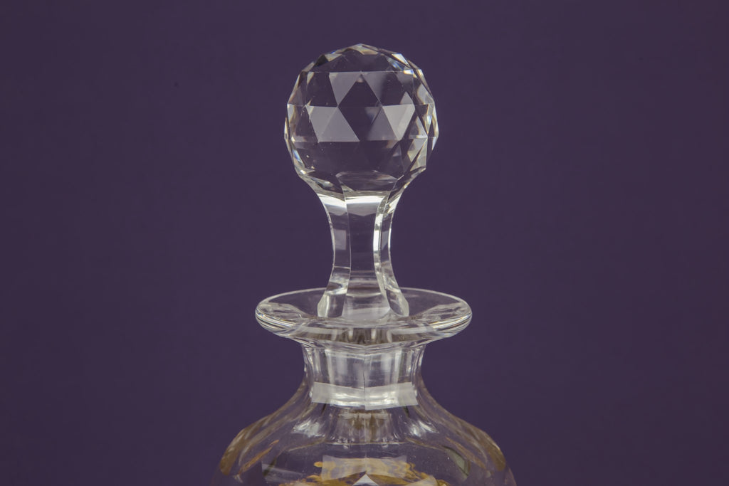 3 cut glass decanters