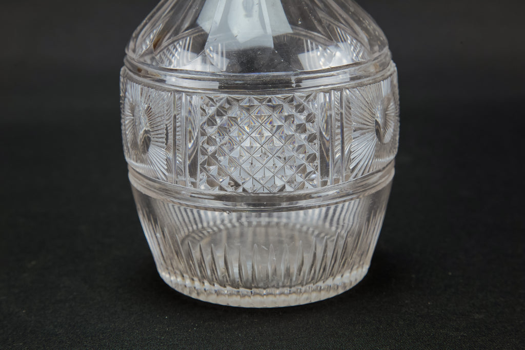 Small cut glass decanter