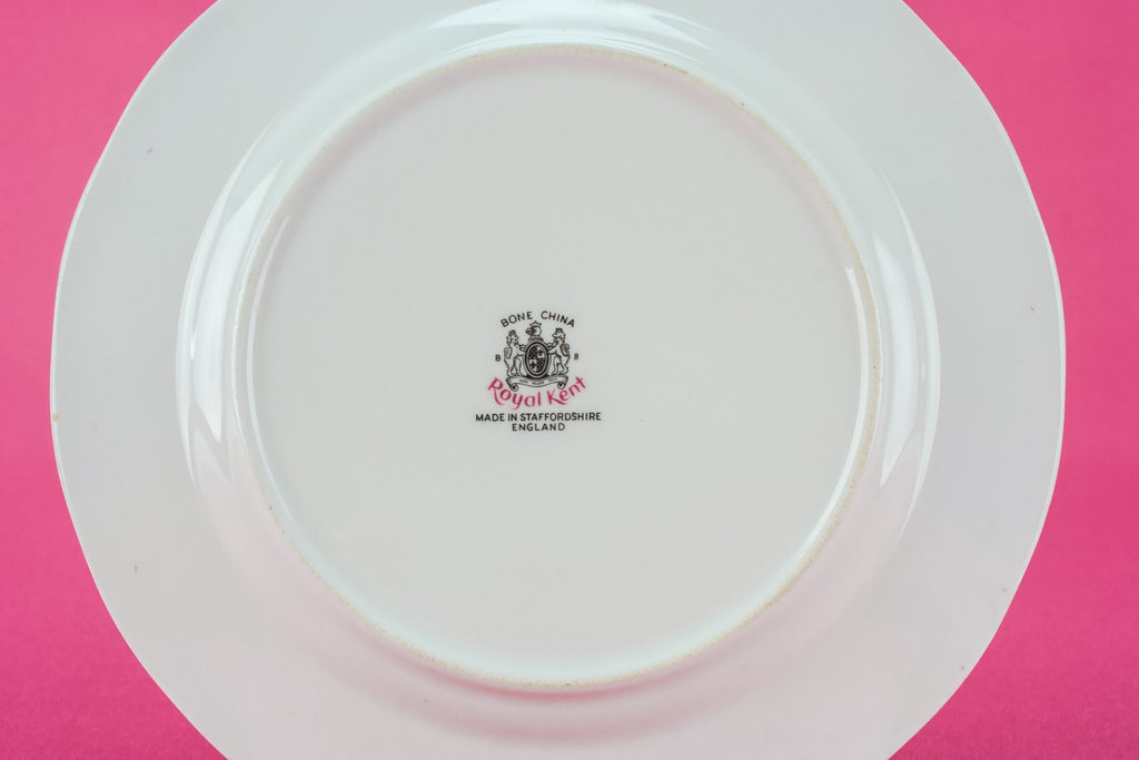 6 Royal Kent bone china plates