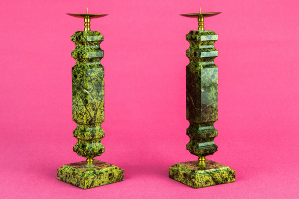 2 stone medium candlesticks