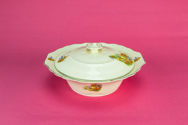 Pottery serving tureen