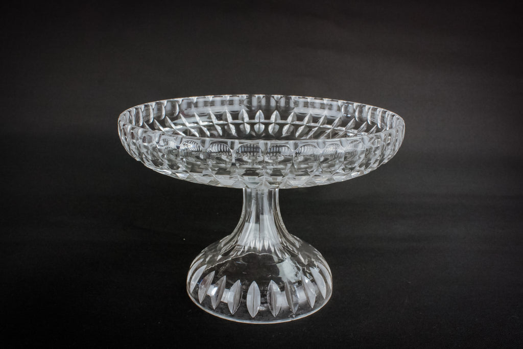 Art Deco glass cake stand