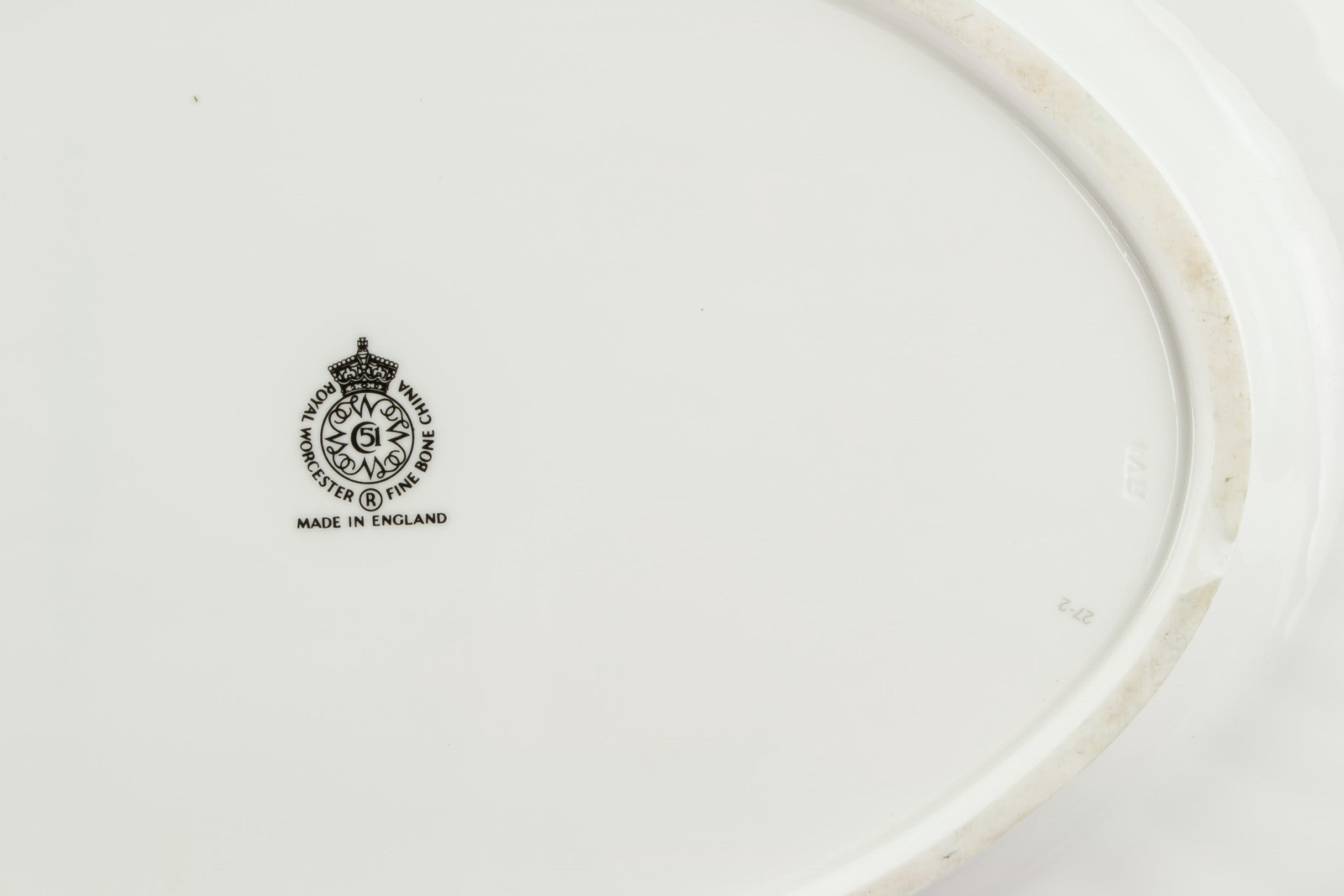 Retro bone china platter