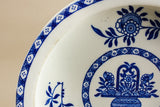 Blue and white baby plate