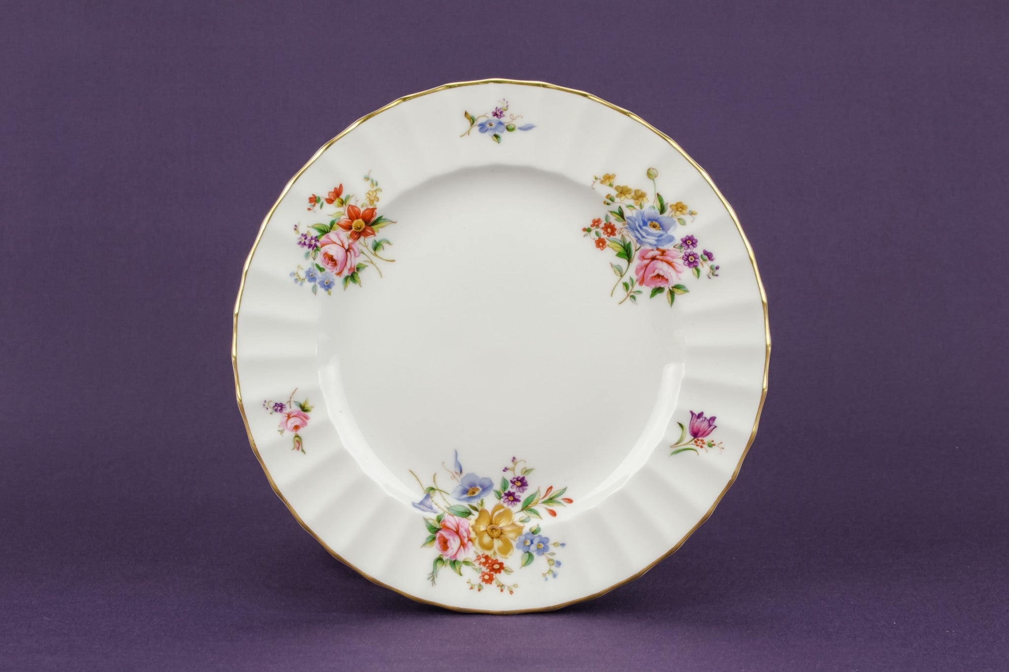 6 Retro bone china plates