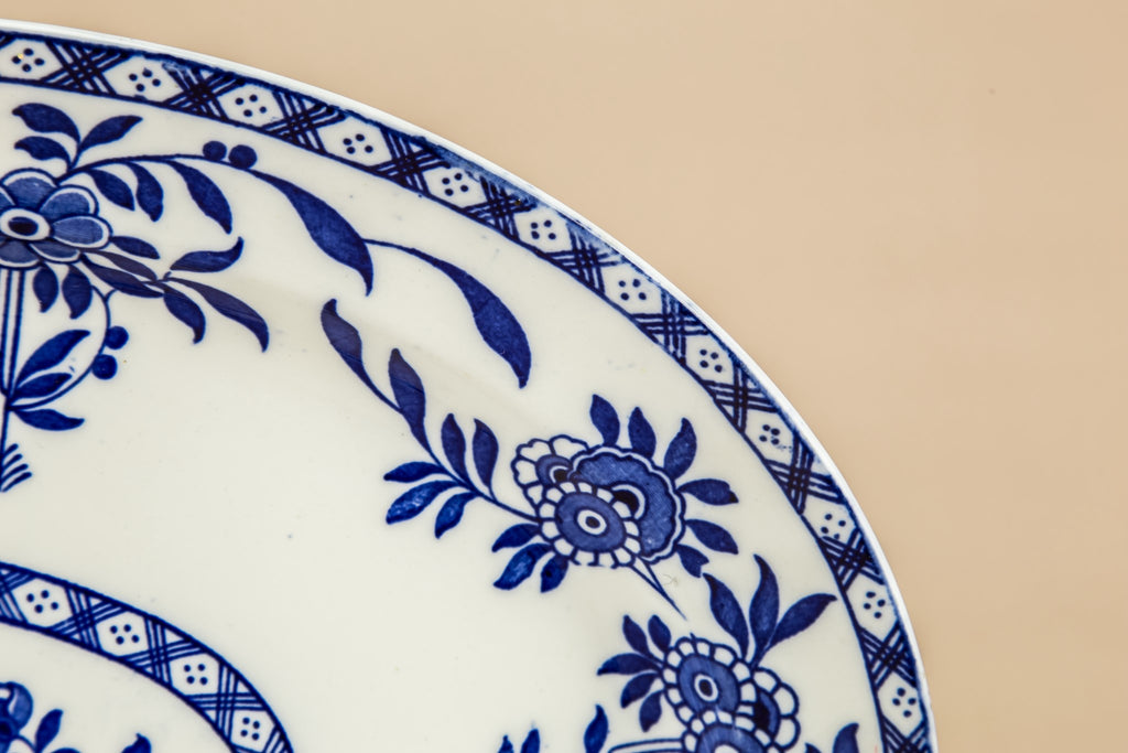 Blue and white platter