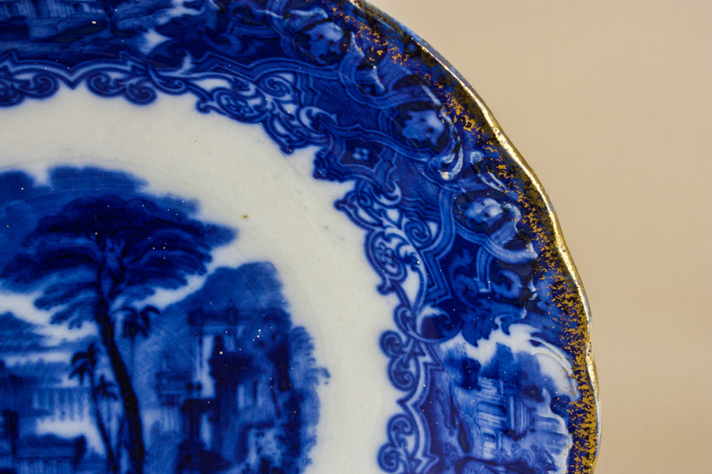 Victorian pottery serving bowl