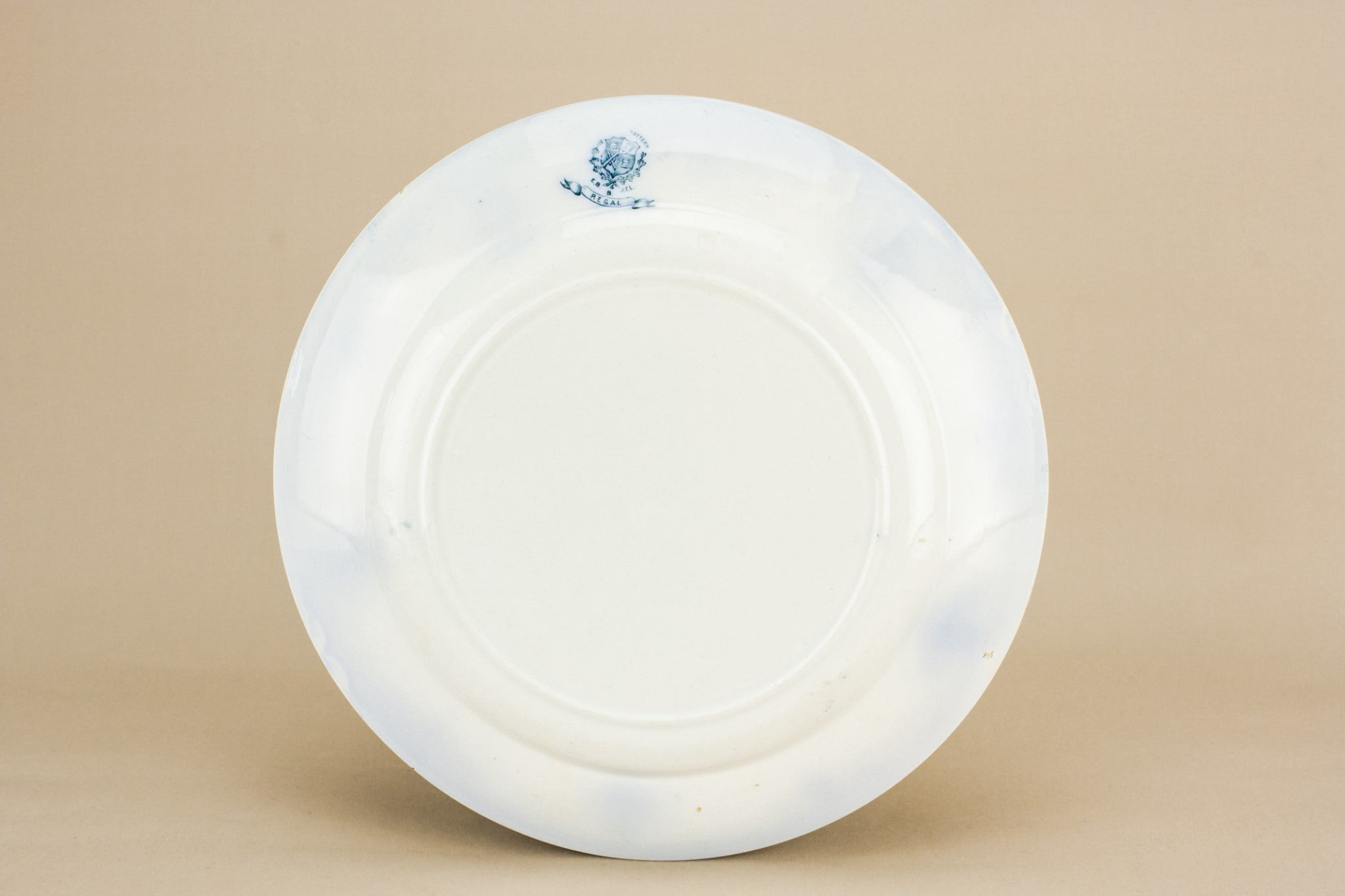 4 blue and white dinner plates