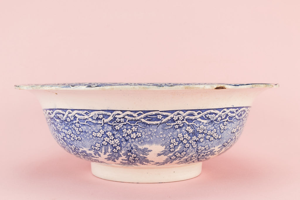 High Victorian pottery bowl