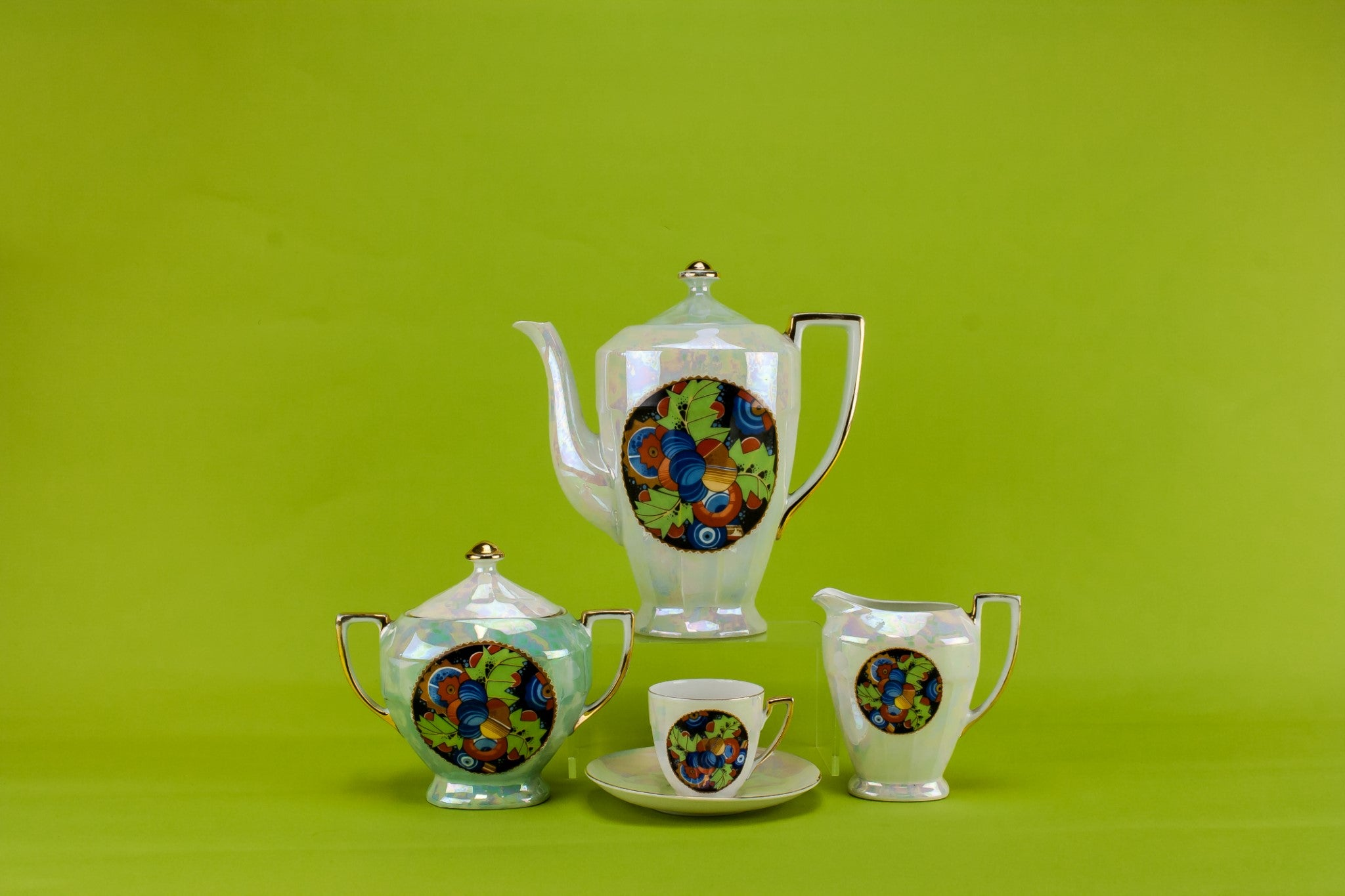 Art Deco coffee set for 6