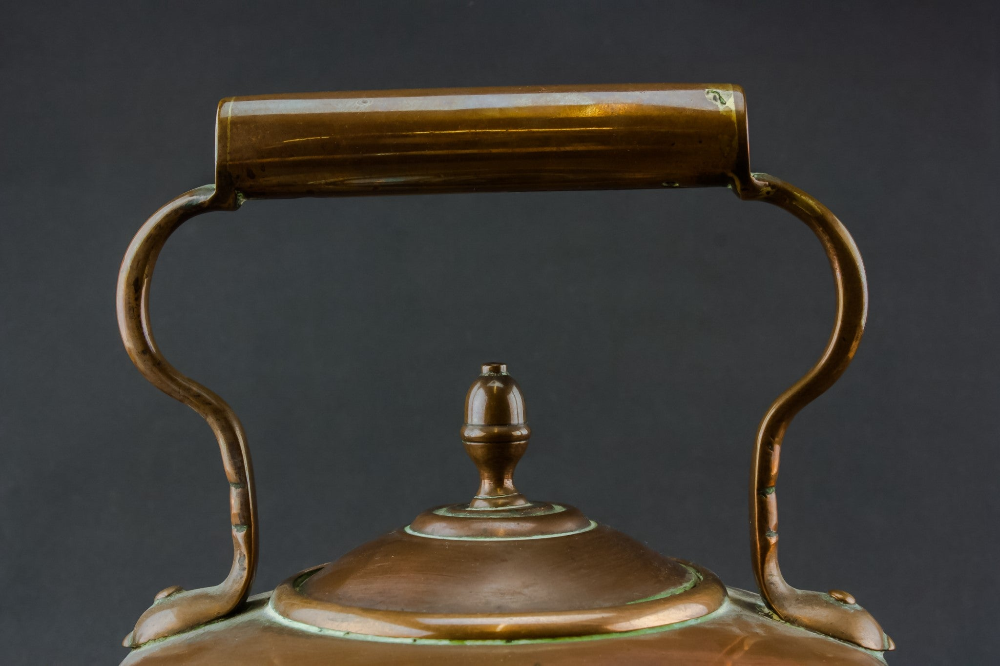 Copper Victorian kettle