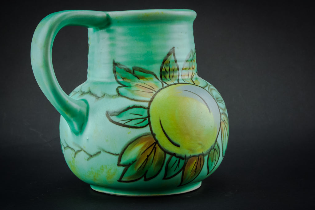 Green painted jug