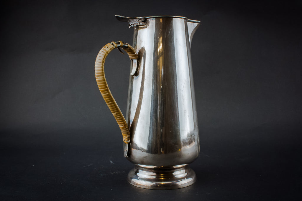 Silver plated Art Deco coffee pot, English 1920s