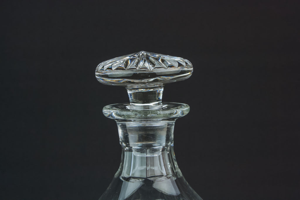 Globular cut glass decanter