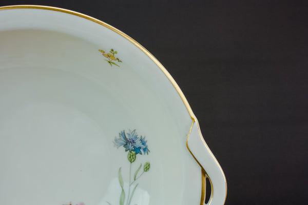 Retro porcelain serving bowl