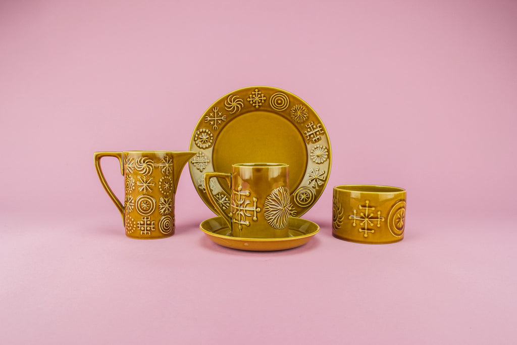 Pottery coffee set for six