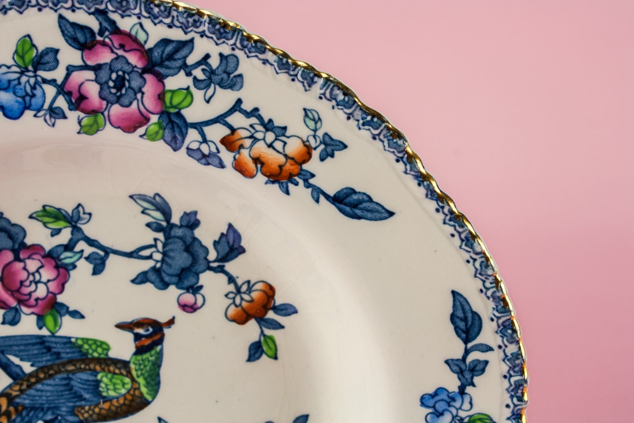 4 small pottery plates