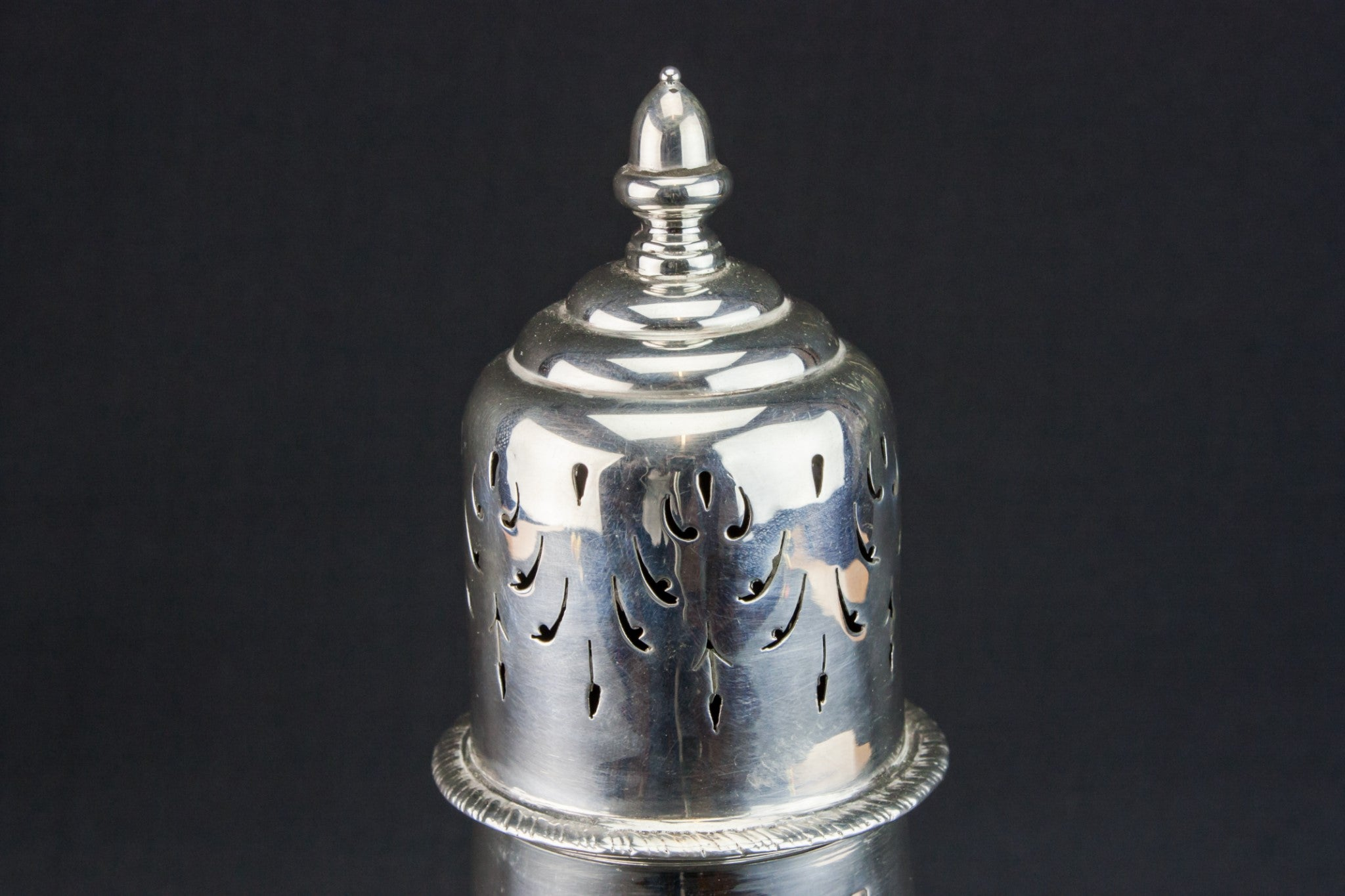 Large silver sugar caster
