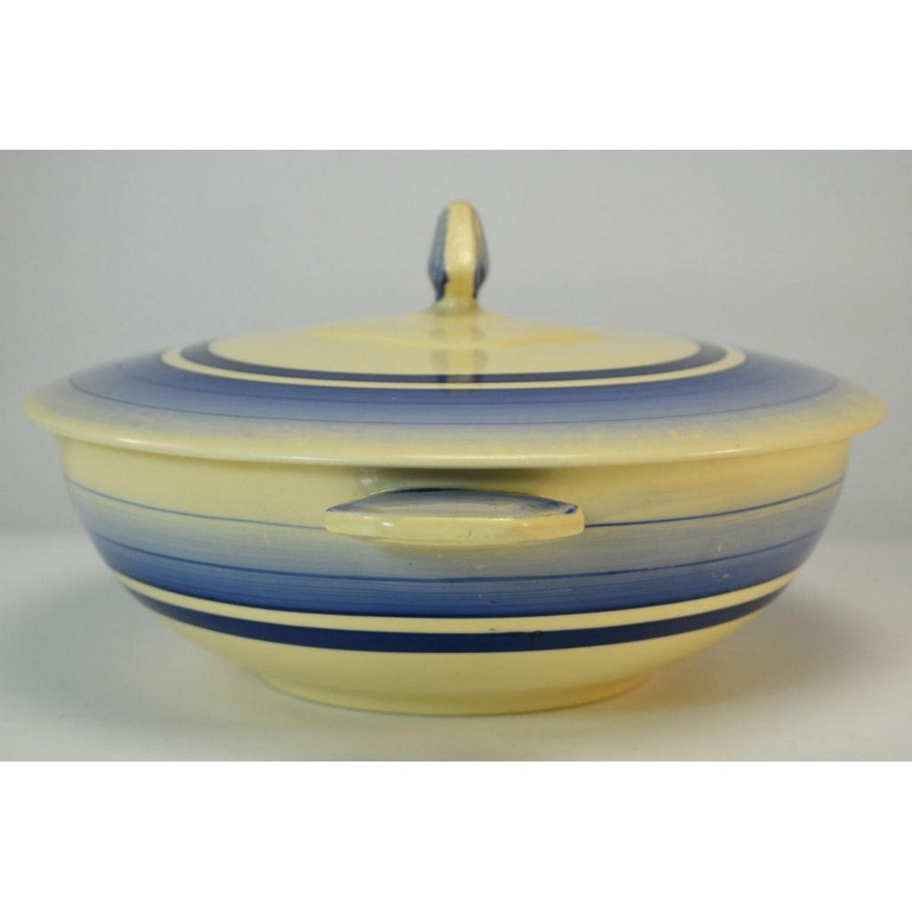 Blue Art Deco tureen