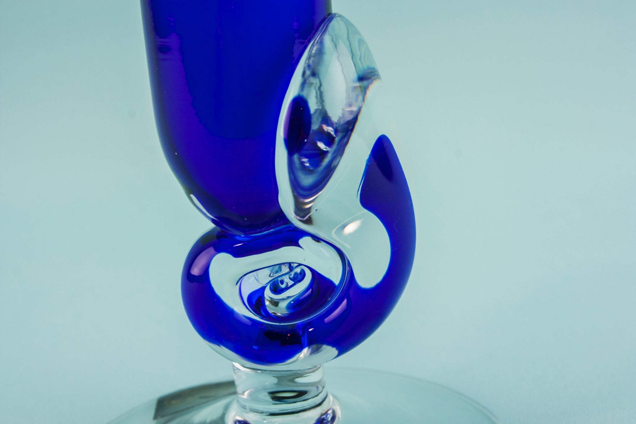 Glass Modernist candlestick