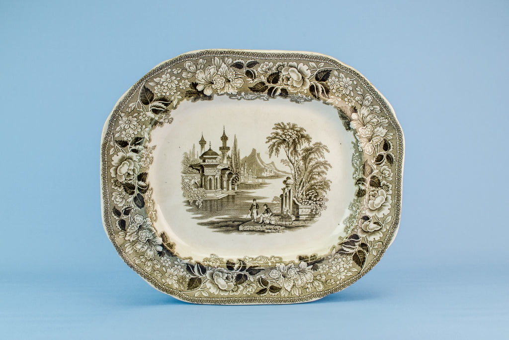 Bosphorus serving platter, Scottish 1860s