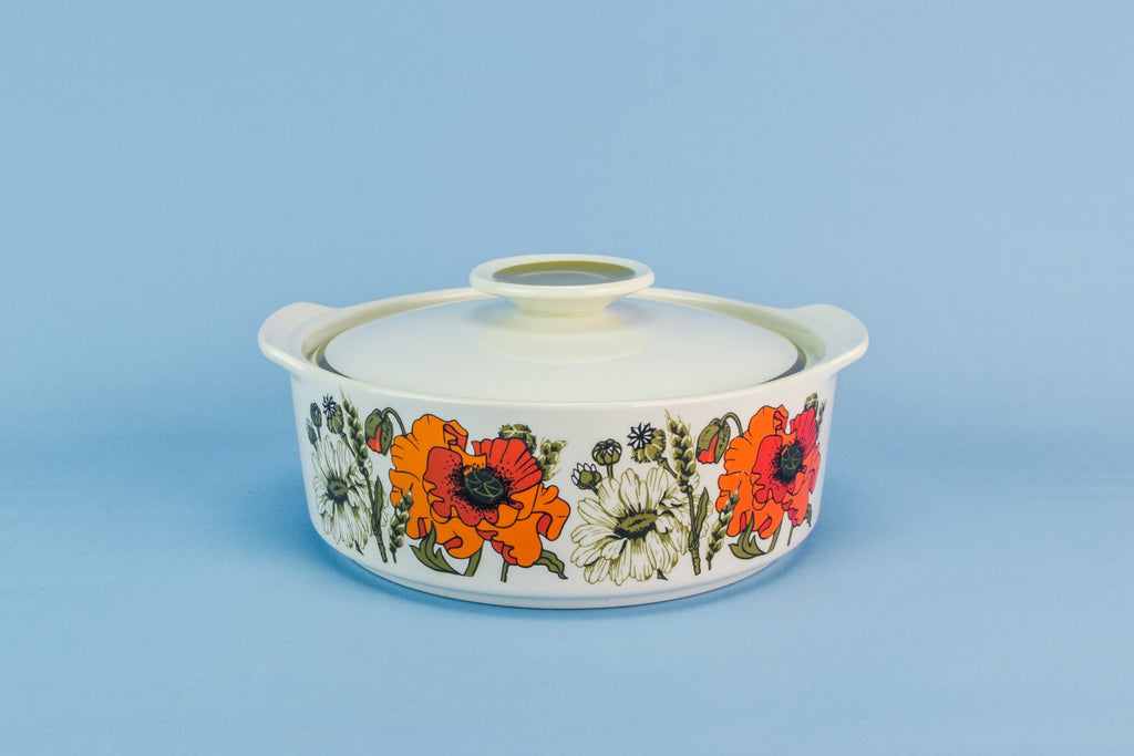 Meakin poppies tureen