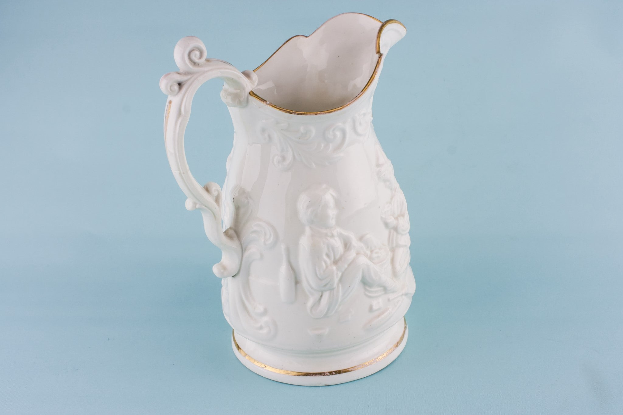 Gothic Revival pottery jug