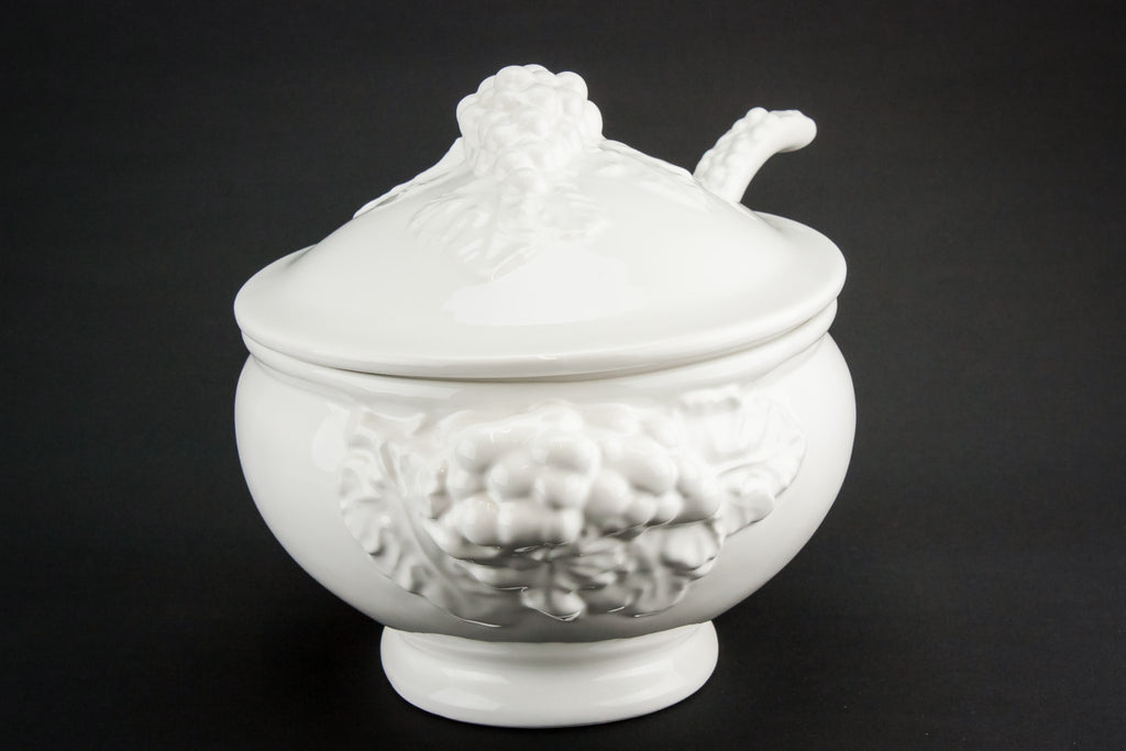 Large pottery tureen