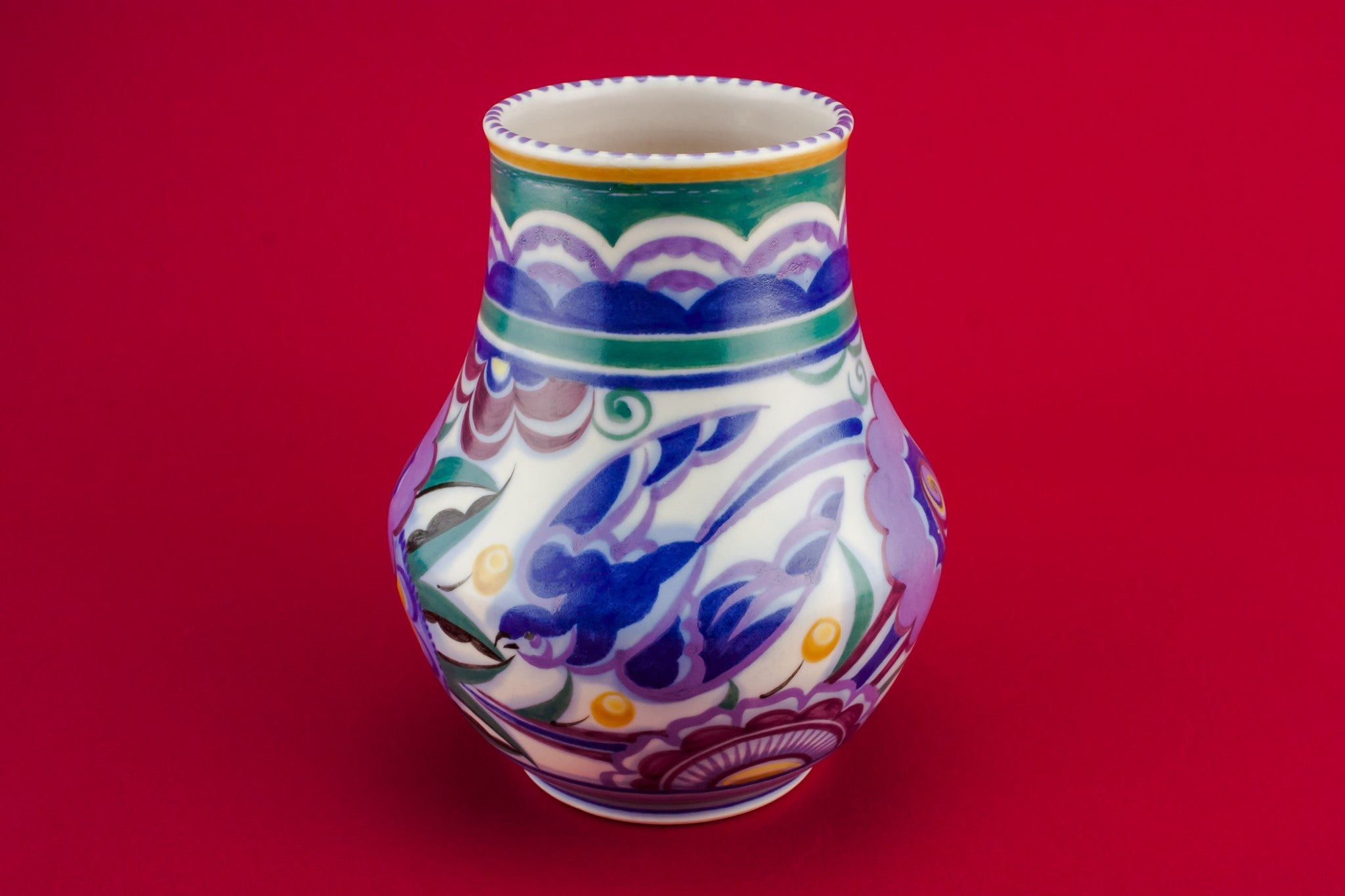 Art Deco pottery vase