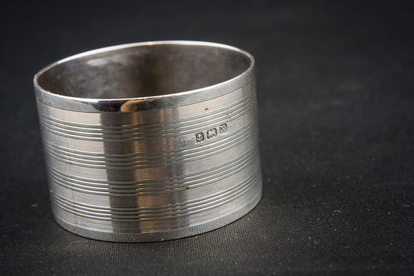 2 sterling silver napkin rings