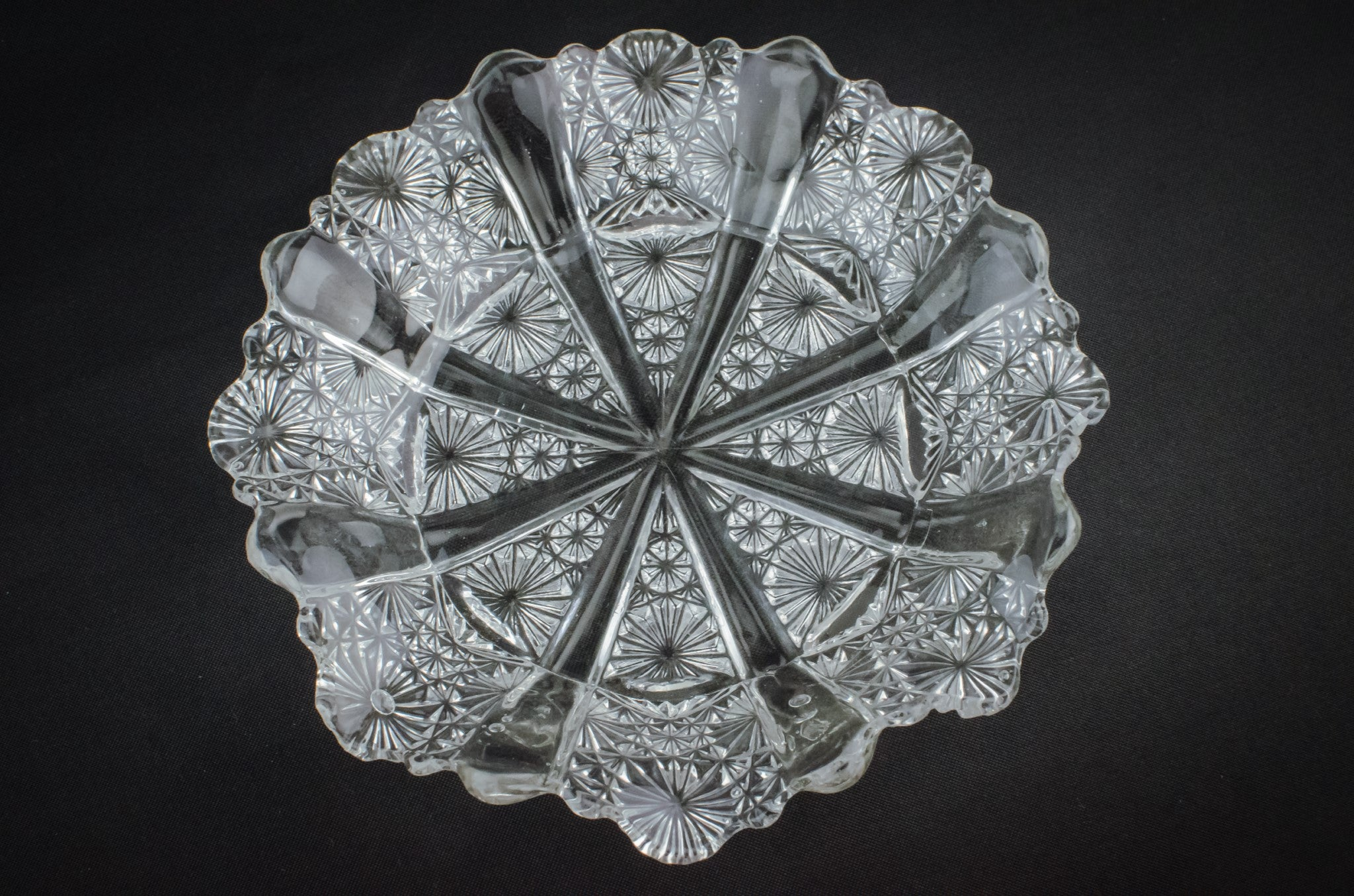 Art Deco glass serving dish