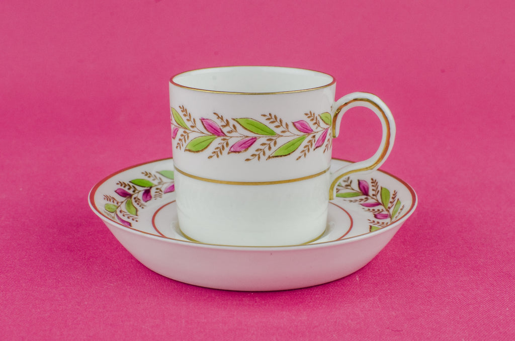 Green bone china coffee cup