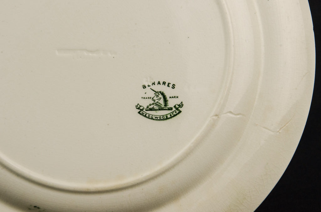 2 pottery dinner plates