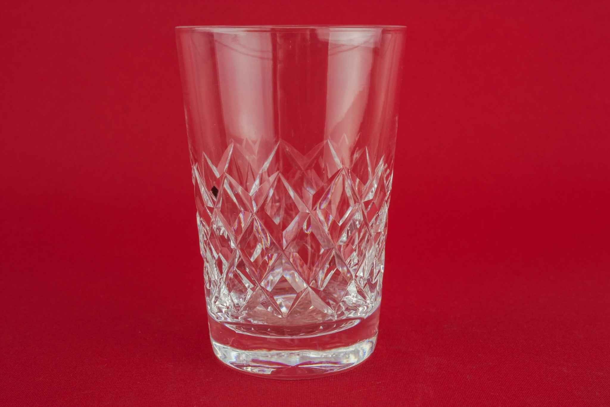 3 crystal whisky glasses