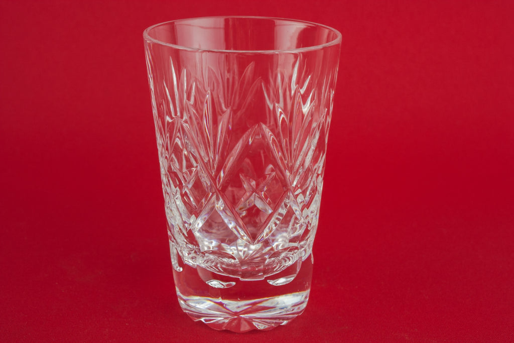 5 cut glass whisky glasses