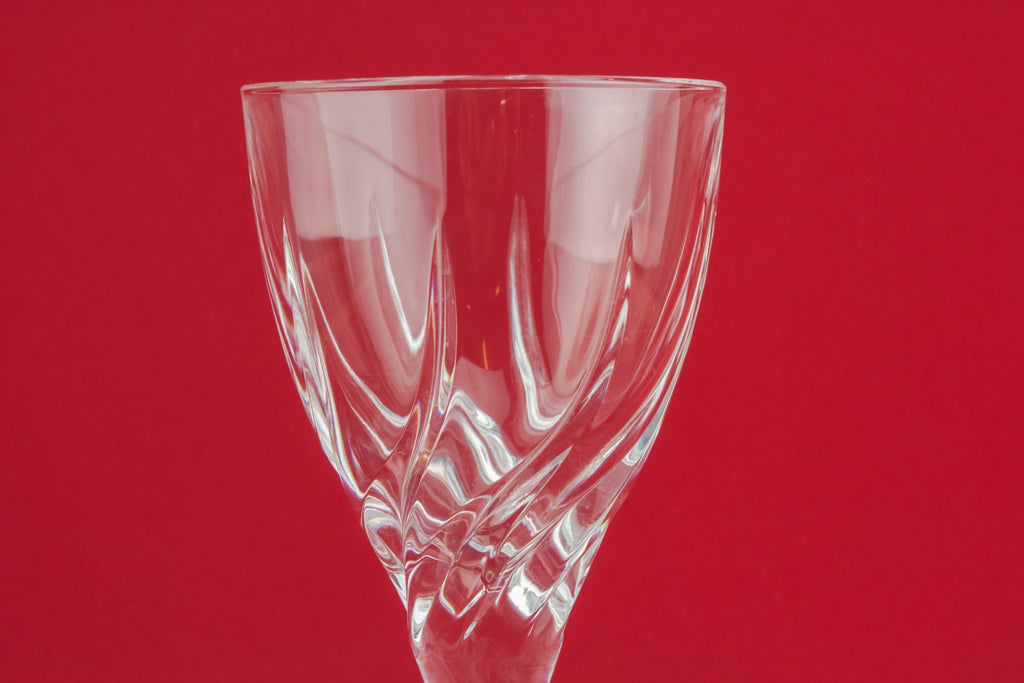 4 crystal wine glasses