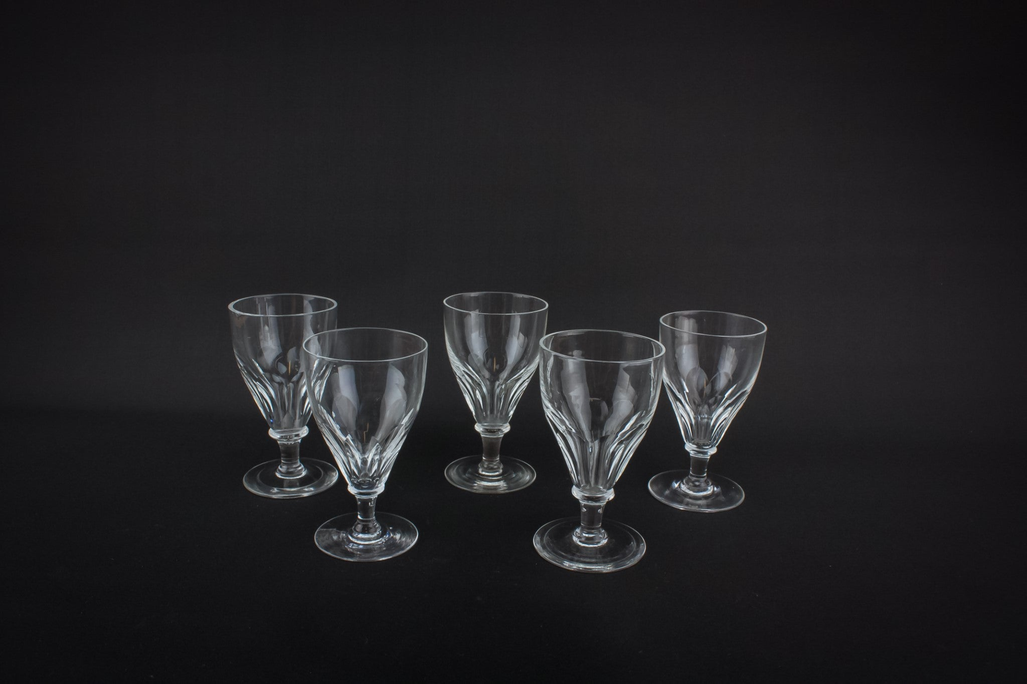 5 crystal port glasses