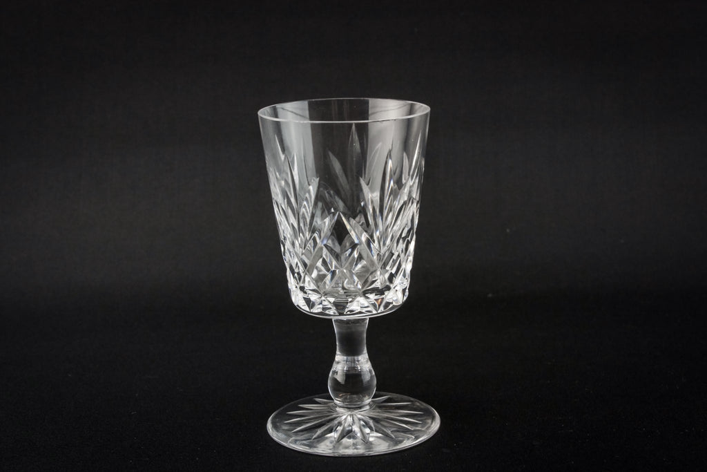 4 crystal port glasses