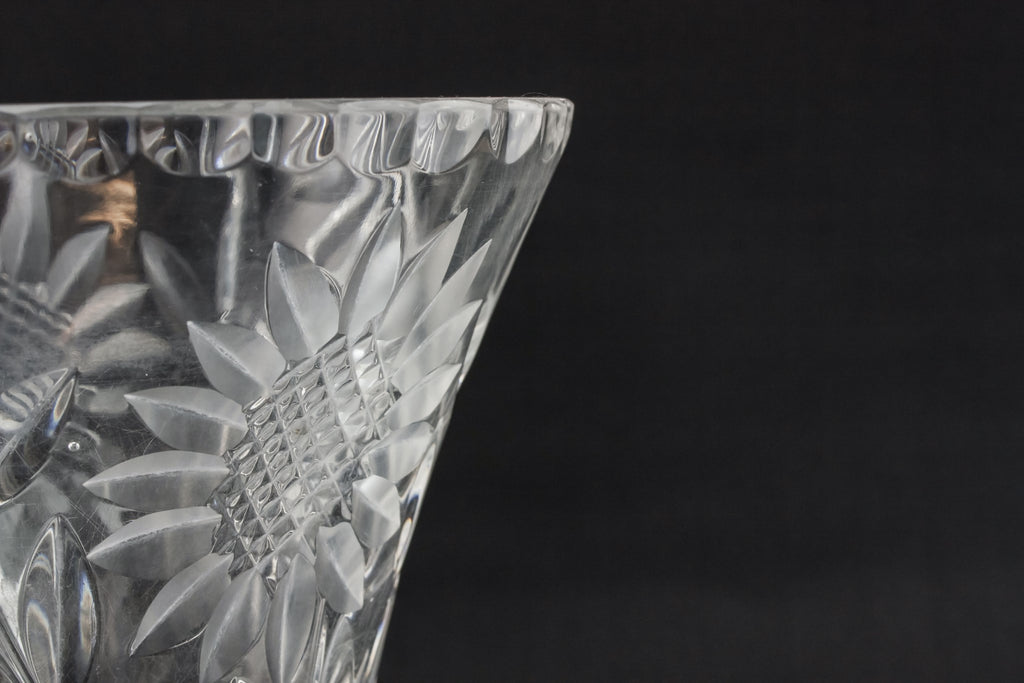 Glass Modernist vase