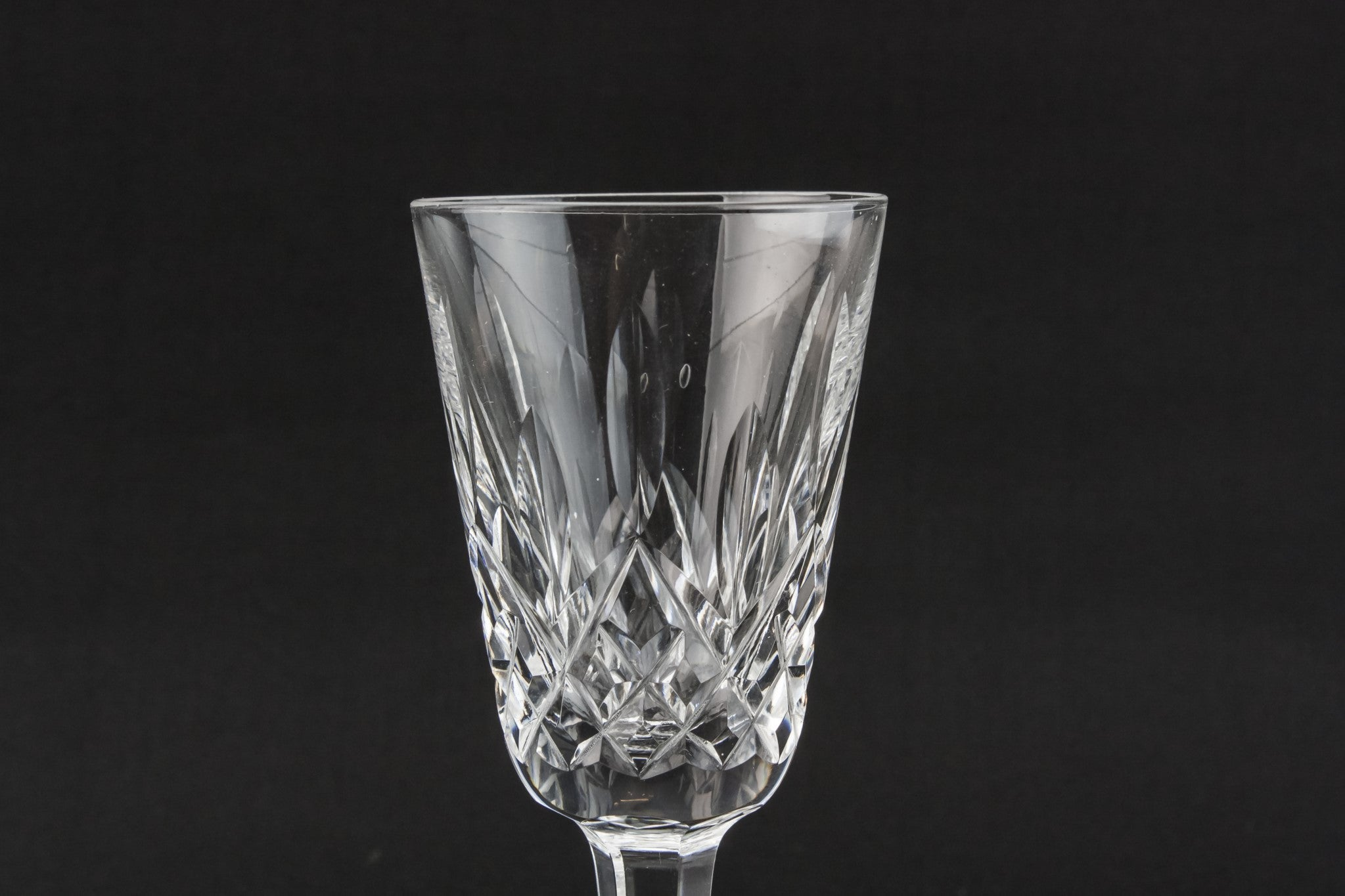 6 crystal port glasses
