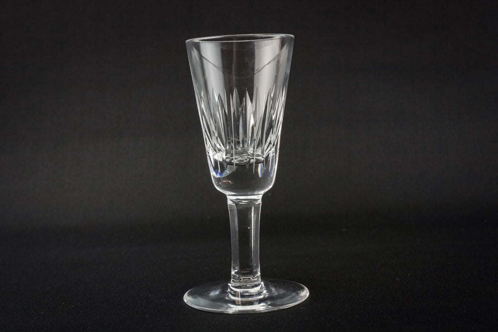 3 crystal port glasses