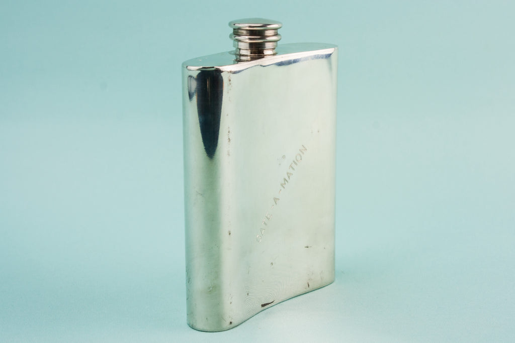 Pewter golf hip flask