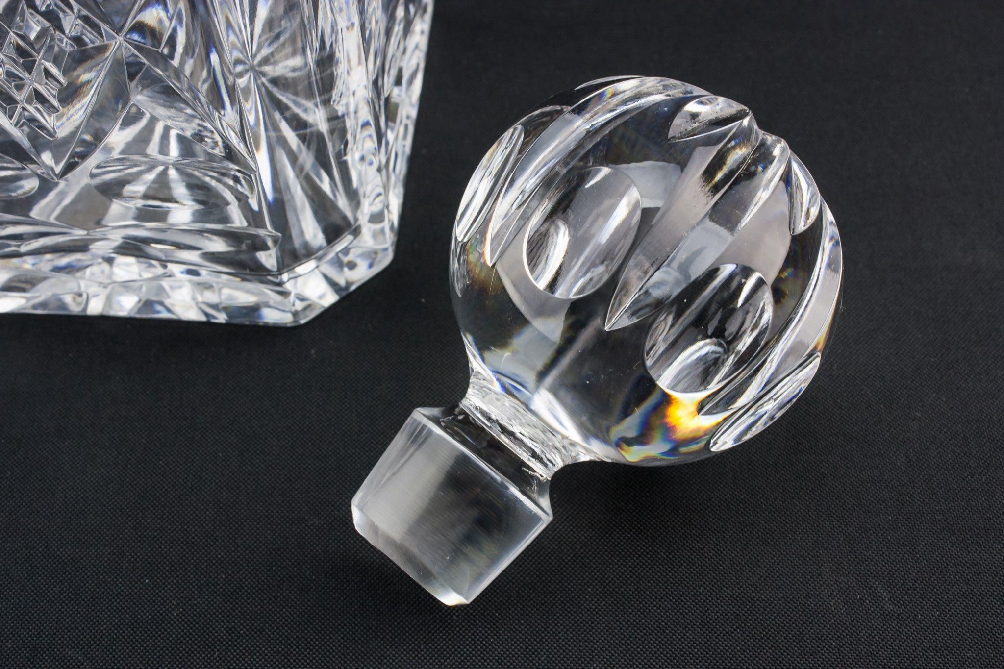 Cut glass & silver decanter