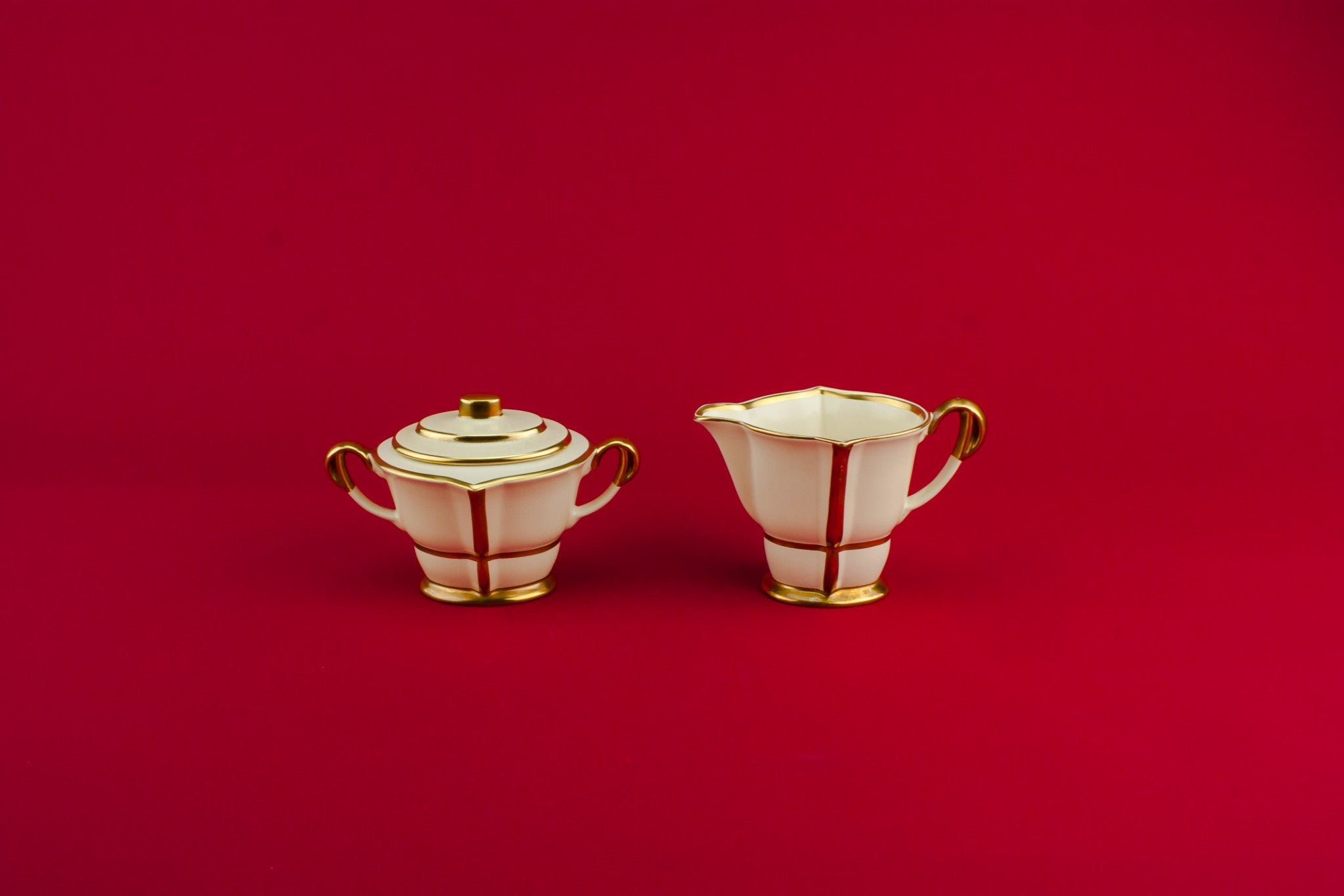 Art Deco milk and sugar set