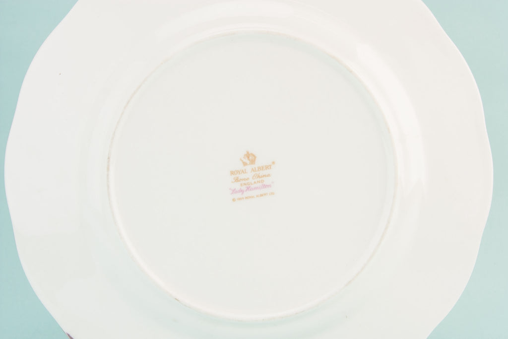 Retro bone china serving dish