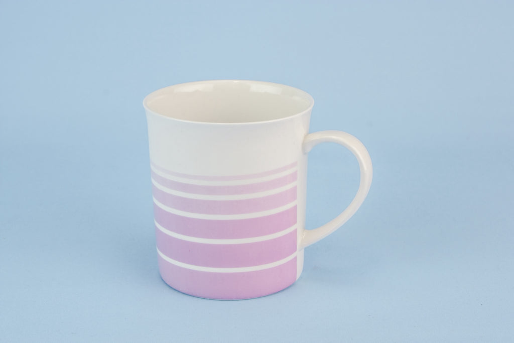Pink bone china teacup